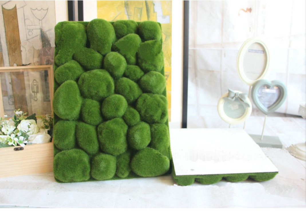 Artificial Moss Panel Faux Moss Mat Fake turf Synthetic Lawn Home Garden Craft Green Decoration (12, Light Green 3030cm) by MOSS PANELS (Image #2)