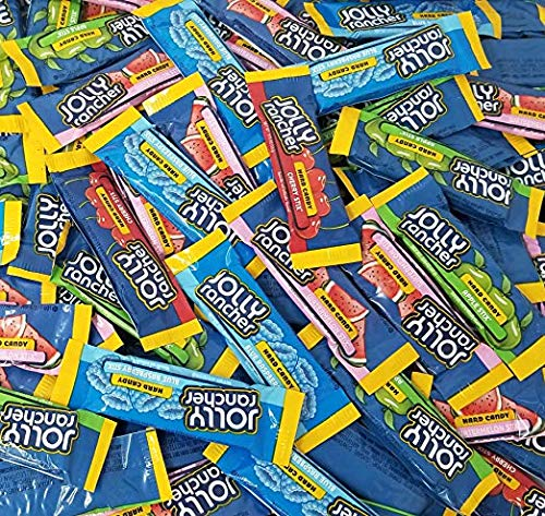 CrazyOutlet Bulk - Jolly Rancher Original Flavor Stix, Watermelon, Cherry, Blue Raspberry and Green Apple Flavored Hard Candy Assortment, Bulk Pack, 2 lbs ()