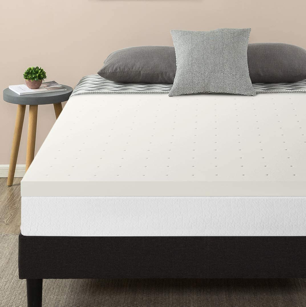 Best Price Mattress Topper King, 2.5 Memory Foam Mattress Topper with Certipur-US Certified Ventilated Cooling, King Size