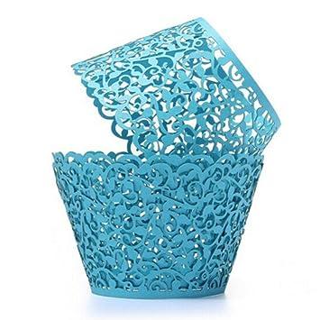 Partyzubehör & Dekoration ULTNICE 50 Stück Cupcake Wrappers Muffin Hülle für Hochzeit Geburtstag Party Partyzubehör & Dekoration