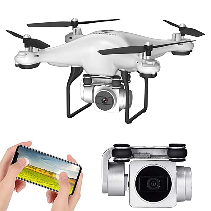 TwoCC Drone,FIR Ajustable Gran angular 180 ° ajustable 1080p 5MP ...