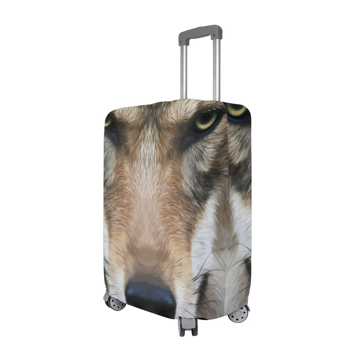 Baggage Covers Horrible Wolf Face Staring Animal Washable Protective Case