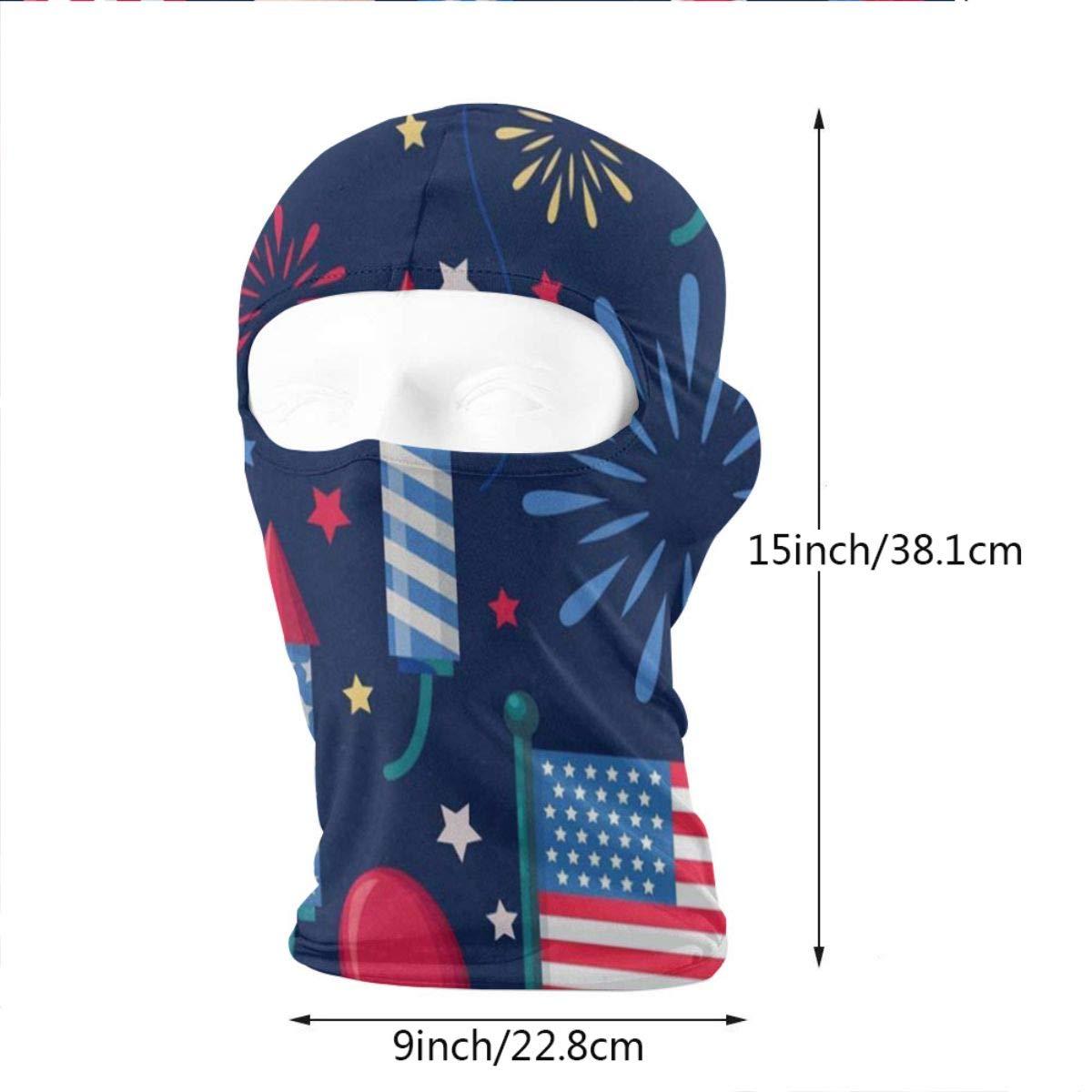 Balaclava USA Holiday Navy Firework Full Face Masks UV Protection Ski Hat Womens Neck Warmer for Cycling