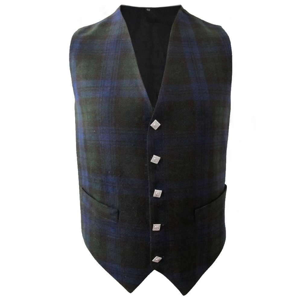 Tartanista Black Watch Waistcoat Size 48