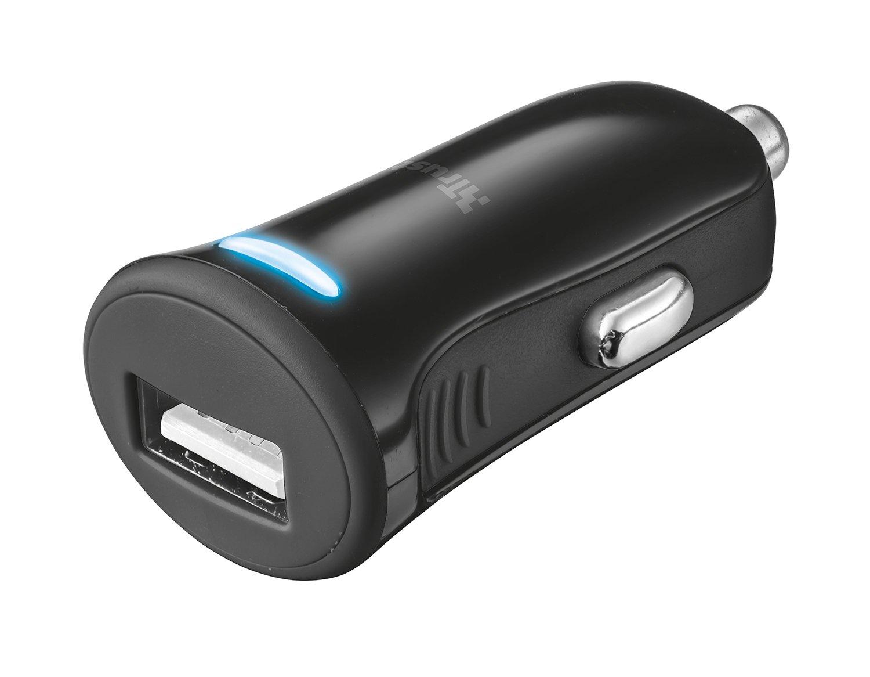 Trust - Cargador USB para coche (12W, 12V), color negro ...