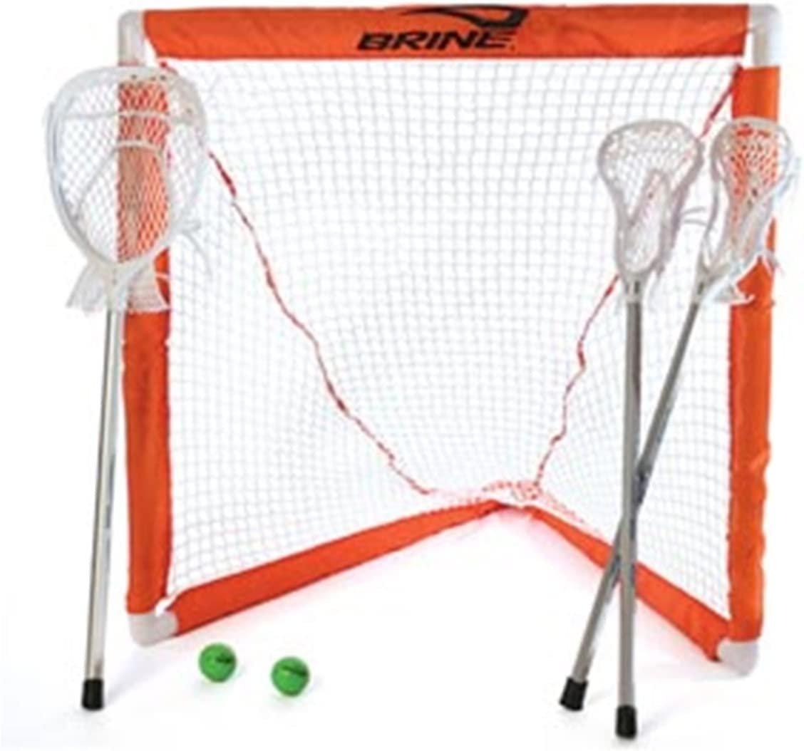 MINI LACROSSE SET - 2 MINI E3 STICKS, 1 MINI MONEY GOALIE STICK, GOAL AND NET