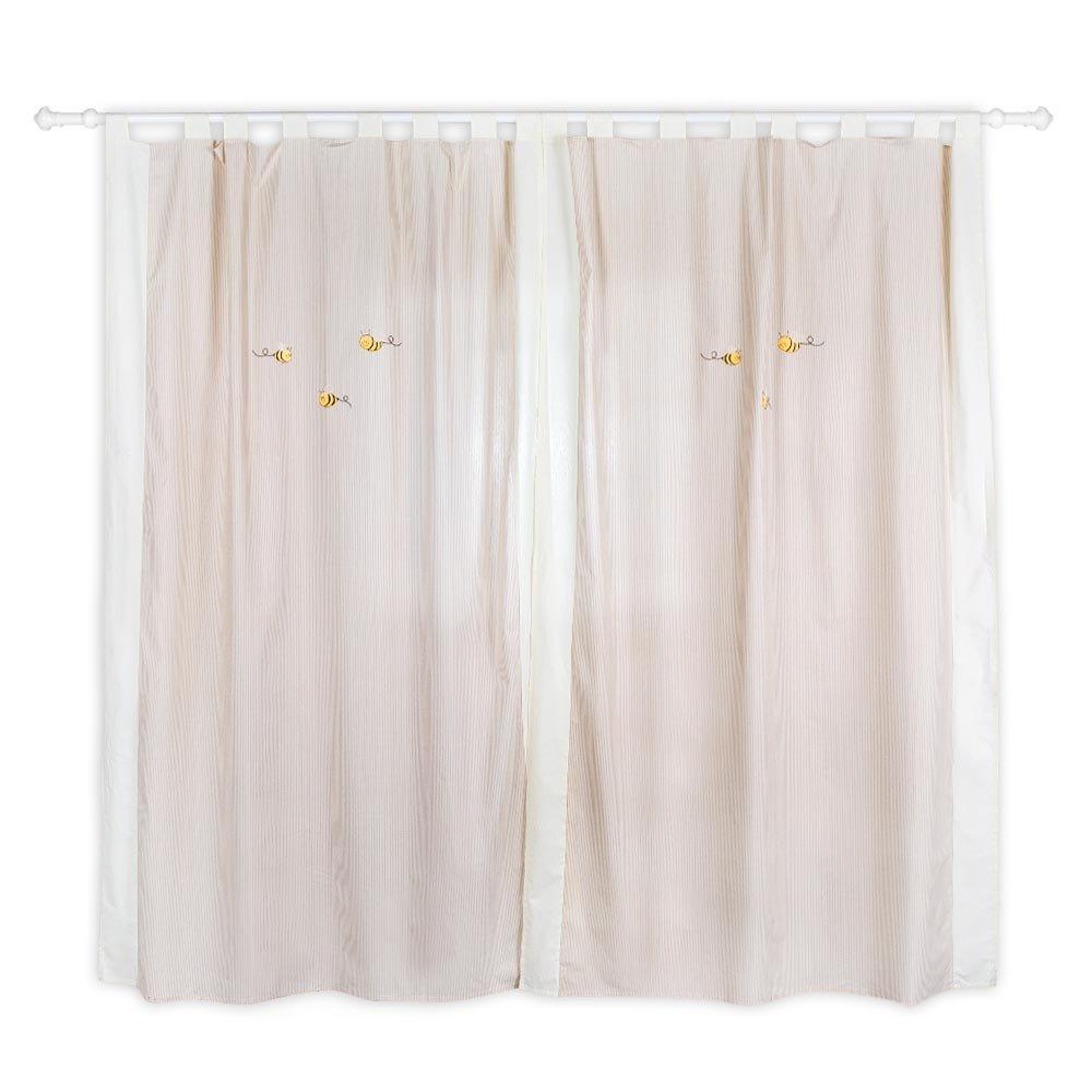 Kinderzimmer gardinen / vorhänge honey bear in beige, ca. 140 x ...