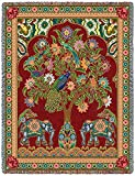 Pure Country Inc. Asian Elephants Blanket Tapestry Throw