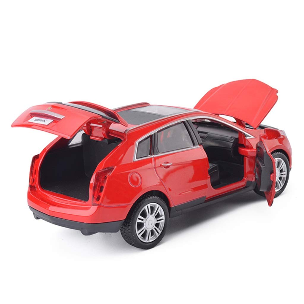 RUNWEI Automodell / 1:32 Simulation Alu-Druckgussmodell/For Cadillac SRX Modelle/Spielzeugauto/Rot/Weiß (Color : White) Red
