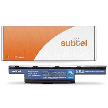 subtel® Batería premium (6600mAh) compatible con Acer Aspire 5742/5750 / 7560