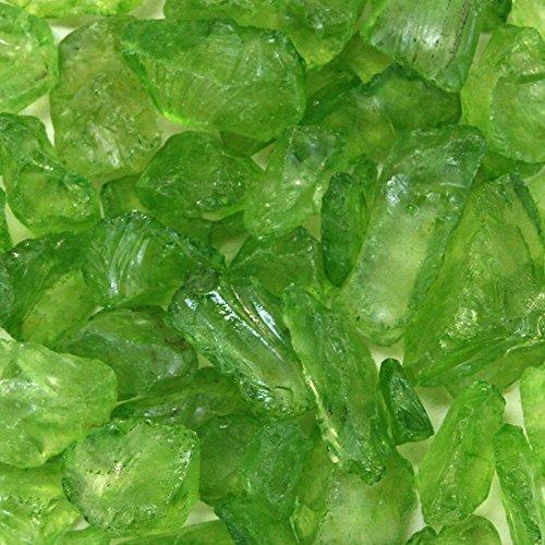 Koyal Wholesale Centerpiece Vase Filler Decorative Crushed Glass, 4.5-Pound, Lime Green