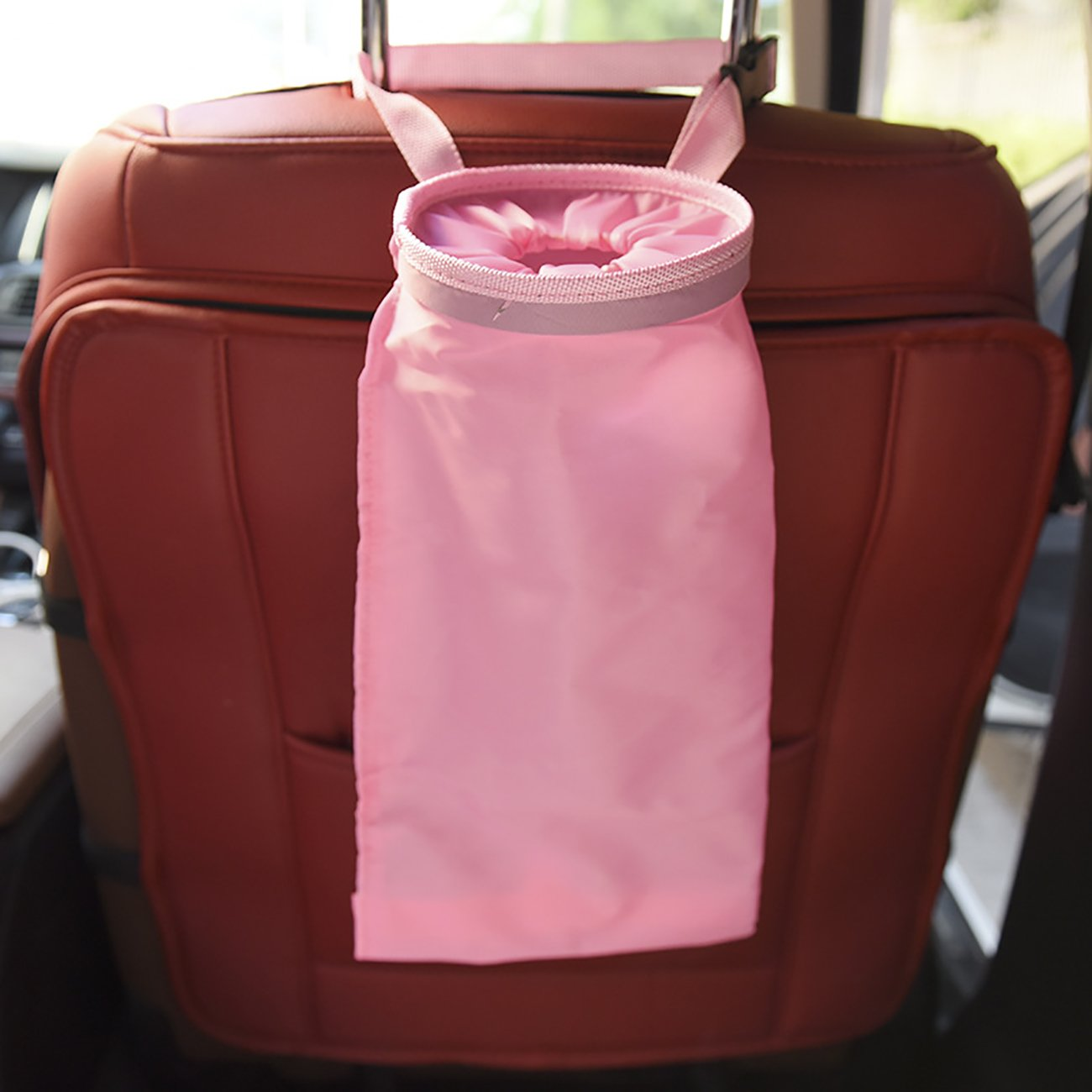 Thee車ゴミ袋Leakproof Washableホームオフィス車のBack Hanging Trash ピンク WAPJSN964pk B07FFTDHPF ピンク