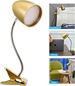 Clip on Lamp for Bed, LED Desk Lamp, Reading Lamps for Bed, Office, 3.5W,4000K Cool White,Flexible LED Clip Lamp