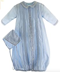 46b5fb3e9 Feltman Brothers Boys Blue Take Home Outfit Gown Hat Layette Set Pintucks