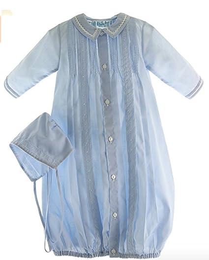 d2e36c278b2 Amazon.com  Boys Blue Take-Me-Home Gown   Hat Newborn  Clothing