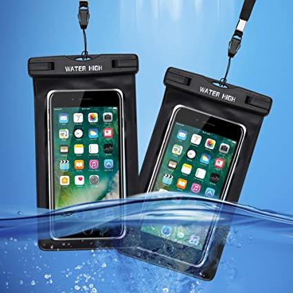 info for 0d70e 5c6e4 Waterproof iPhone Cases (2 Packs), WaterHigh Waterproof Phone Pouches for  iPhone X XS XR 8 7 6 6S Plus, Samsung Galaxy S9 S8 Note 8 6 5 4