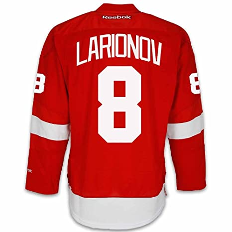 2fd906d02 Amazon.com   Igor Larionov Detroit Red Wings Home Jersey by Reebok - SEWN  TACKLE TWILL NAME NUMBER   Sports   Outdoors