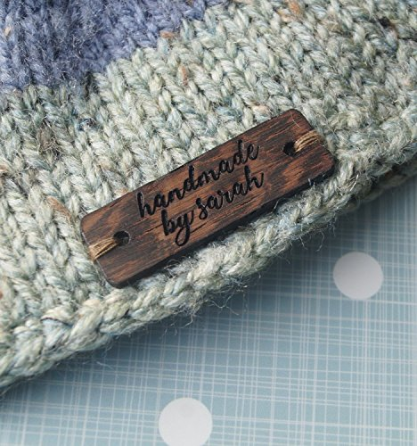 (Custom clothing labels, wooden garment labels, personalized label tags, labels for handmade products, wood labels for knitted items, 25 pc)