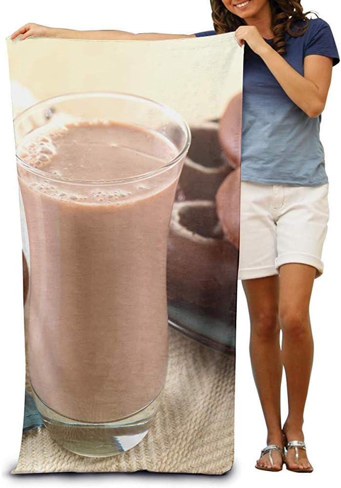 utong Toallas de Playa 100% algodón 80x130cm Toalla de Secado rápido Manta de Playa de Chocolate con Leche
