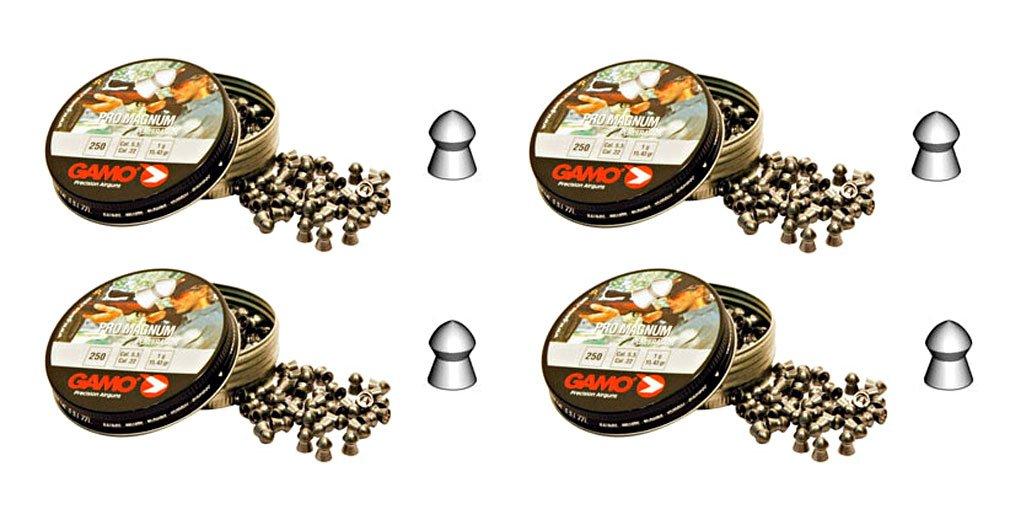 Outletdelocio. 4 latas de 250 perdigones Gamo Pro-Magnum de Copa-Punta 4, 5mm.