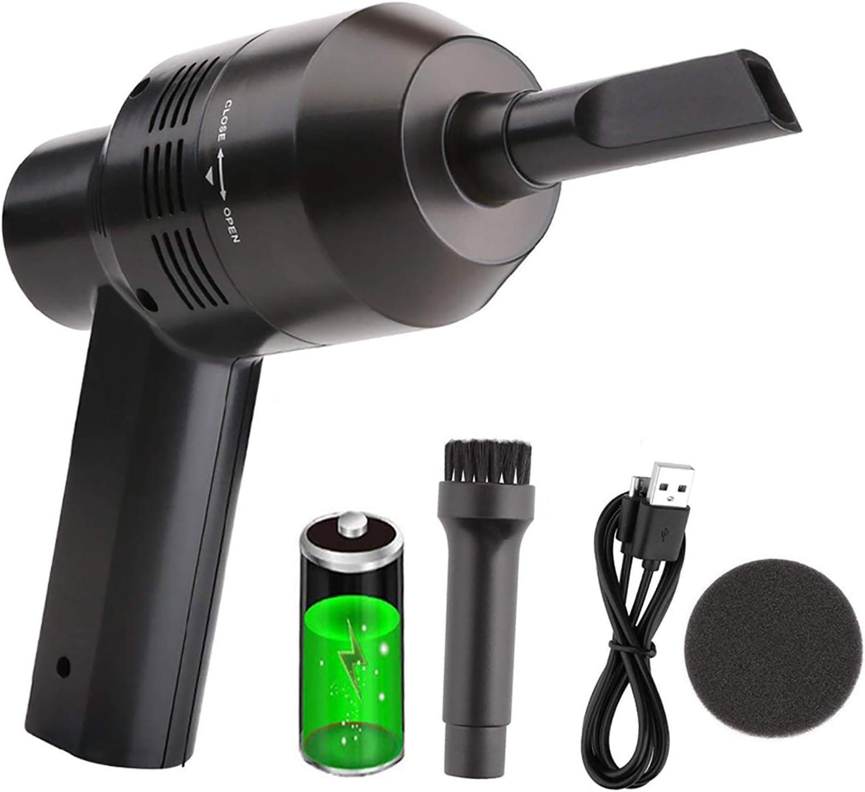 USB Mini Rechargeable Vacuum Cordless Vacuum Desk Vacuum Keyboard Cleaner Black