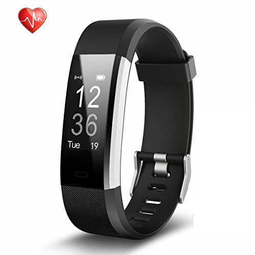 Fitness Tracker Heart Rate Monitor Activity Tracker Waterproof Smart Bracelet with Pedometer Sleep Monitor Smart Watch for Android and iOS Smartphones