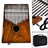 EDTara 17 Key Kalimba Thumb Piano Portable Finger Piano Link Speaker Electric Pickup with Bag Cable