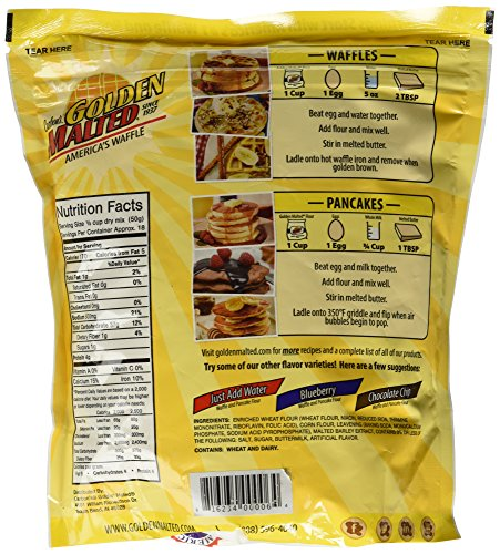 Carbon's Golden Malted Original Waffle and Pancake Flour, 32 Ounce (Pack of 3) by Carbon's Golden Malted (Image #4)