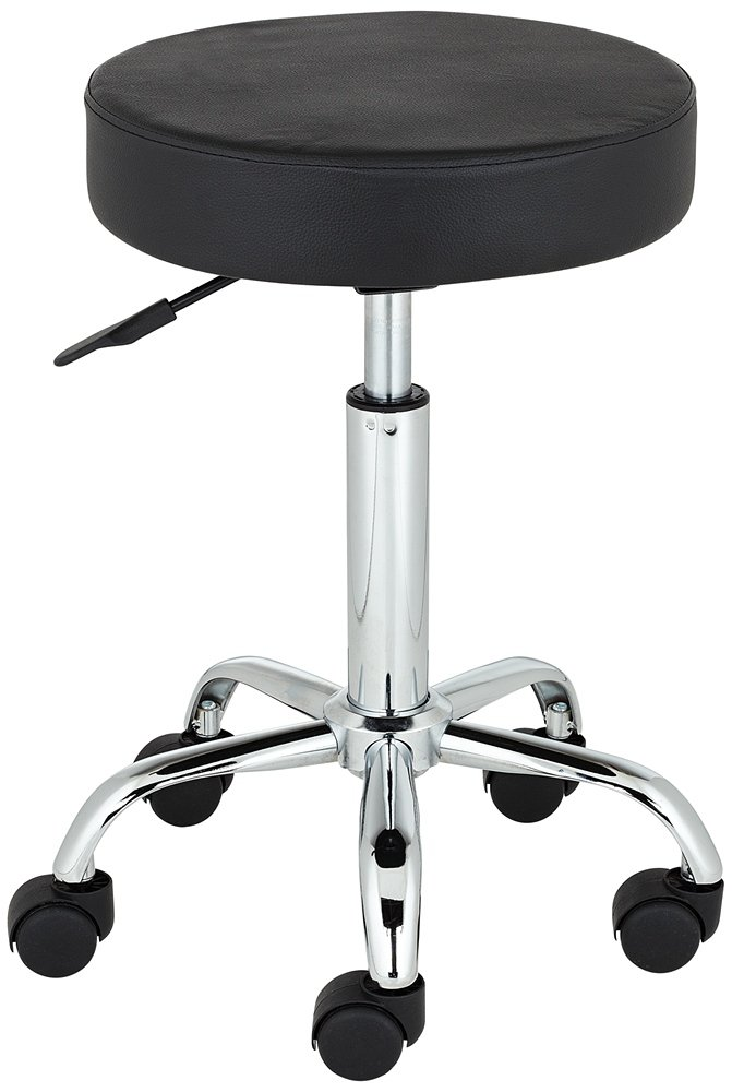Amazon.com Kelly Rolling Chrome and Black Adjustable Height Stool Kitchen u0026 Dining  sc 1 st  Amazon.com & Amazon.com: Kelly Rolling Chrome and Black Adjustable Height Stool ... islam-shia.org