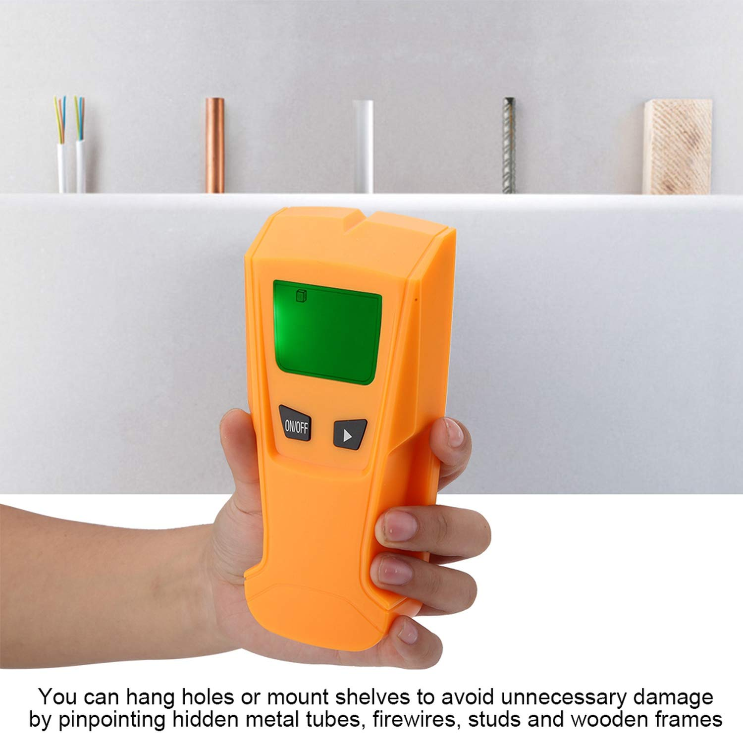 Stud Finder Sensor Wall Scanner Wall Metal Detector 3 in 1 Metal Stud Wire Detector Digital LCD Wall Scanner Electric Detecting Box Finder Detector de ...