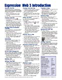 Expression Web 3 Quick Reference Guide (Cheat Sheet of Instructions, Tips and Shortcuts - Laminated Card), Beezix Inc, 1936220075