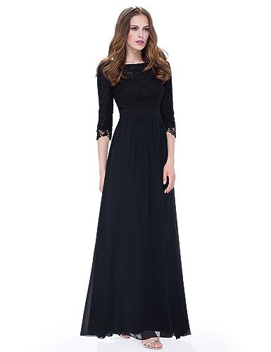 Ever Pretty Women's Lace Long Sleeve Floor Length Evening Dress 08412