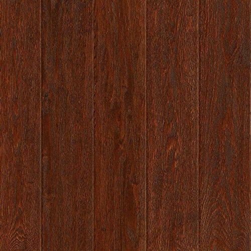 American Vintage Black Cherry Oak 3/4 in. Thick x 5 in. Wide Solid Scraped Hardwood Flooring (23.5 sq. ft. / case) (Black Vintage Hardwood Flooring)