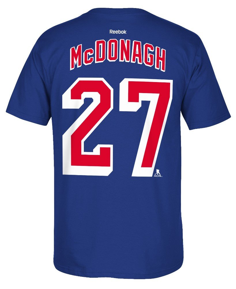 a018bd191 Amazon.com   Reebok Ryan McDonagh New York Rangers Jersey Name and Number T- Shirt   Sports   Outdoors