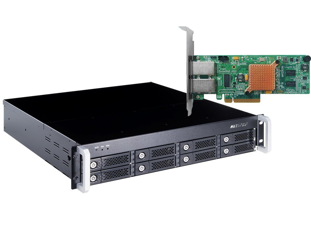HighPoint RocketStor 6422AS 2U 8-Bay Hardware RAID Class Rackmount Enclosure Solution by High Point (Image #1)
