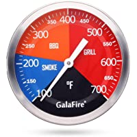 GALAFIRE Grill Thermometer BBQ Temp Gauge, Big Face 3 3/16 inch, 700 °F