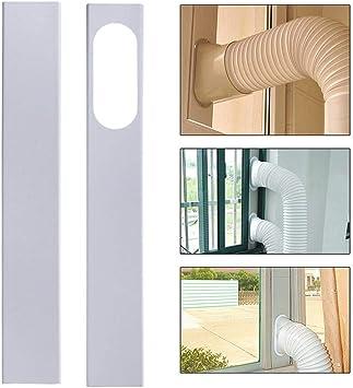 EDQZ - Juego de juntas para ventana de aire acondicionado, 2 unidades, 84 – 120 cm, kit de tobogán para ventana ajustable para aire acondicionado portátil: Amazon.es: Bricolaje y herramientas