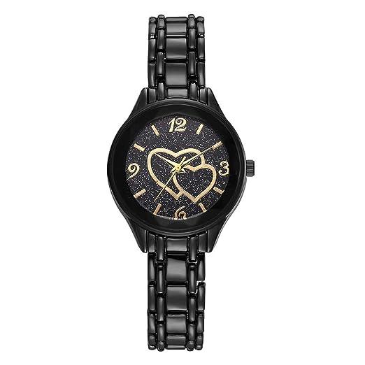 Reloj Digital Mujer, BOBOLover Pulseras Mujer Reloj con Movimiento Cuarzo Pulsera de Cuarzo Analógico con Correa de Acero Inoxidable - Clásico Regalo para ...
