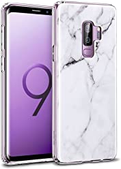 "ESR Case for Samsung Galaxy S9, Galaxy S9 Marble Case, Slim Marble Soft Flexible TPU Pattern Case [Supports Wireless Charging] for the Samsung Galaxy S9 5.8"" (Released in 2018), White Sierra"
