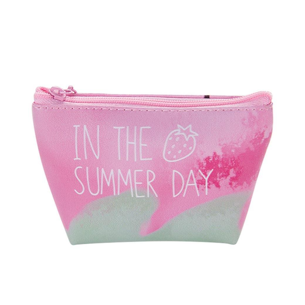 Women Girls Cute Fruit Strawberry Snacks Coin Purse Wallet Bag Key Bag