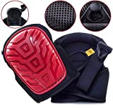 Professional Knee Pads - EASY TO WEAR Heavy Duty Memory Foam Padding, COMFORTABLE GEL CUSHION, Strong Velcro Straps FITS ALL, Adjustable Easy-Fix Clips - Best For Gardening, Construction, Flooring