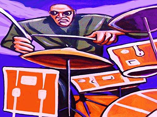 PAUL MOTIAN PRINT POSTER man cave drums cd lp record album vinyl tom tom snare cymbals kick charlie haden band