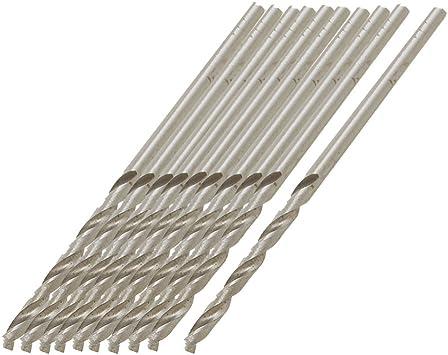 a12051600ux0841 10 Piece Uxcell HSS Straight Shank 1.8mm Diameter 47mm Long Fully Ground Twist Drill Bits