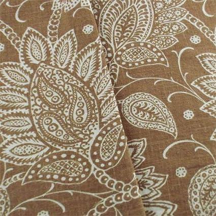 Amazon Designer Brown Floral Paisley Print Decorating Fabric Interesting Designer Decorator Fabric