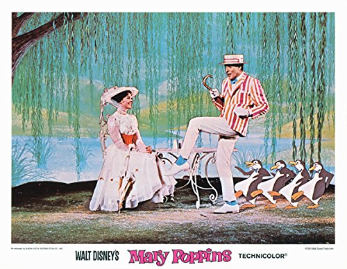 Mary Poppins 1980 re-release original lobby card 11x14 Julie Andrews Van Dyke from Silverscreen