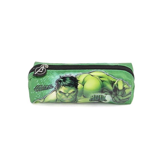 22 cm Karactermania Hulk Rage-Quadrat Federm/äppchen Astuccio Green Verde