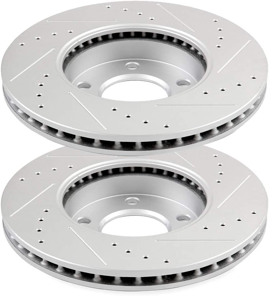Front Disc Brake Rotor 2PCS Compatible With 2001-2004 Ford Escape