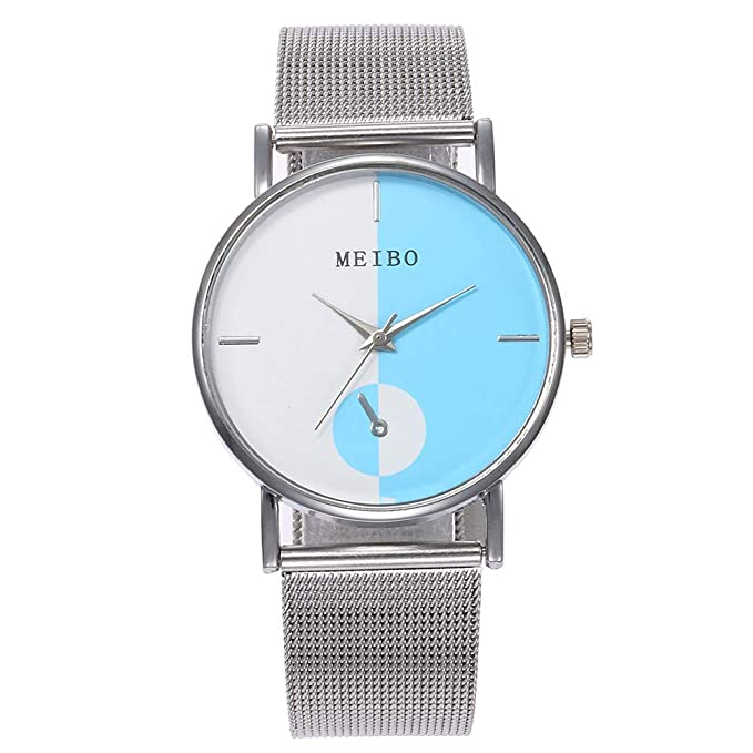 Mymyguoe Reloj de Acero Inoxidable Reloj Mujer Relojes Hombre Unisex Reloj de Pulsera Relojes de Pulsera para Hombres Reloj Mujer Reloj analogico Reloj de ...