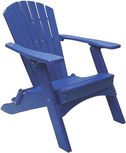 Perfect Choice Folding Adirondack Chair, Blue