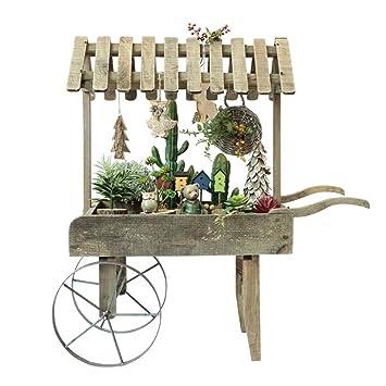 Flower stand- Marco de decoración de Carro Retro de Madera de país Americano pequeño Soporte de Flor Creativo Tienda de Accesorios de decoración: Amazon.es: ...
